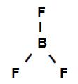 Fórmula estrutural do trifluoreto de boro