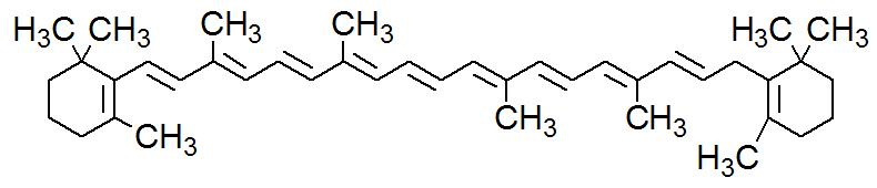 Fórmula estrutural do Betacaroteno