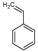 Fórmula estrutural do estireno