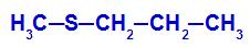 Fórmula estrutural de um Tioéter