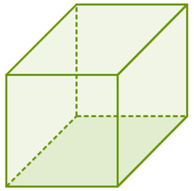 Cubo: prisma cujas faces são quadrados