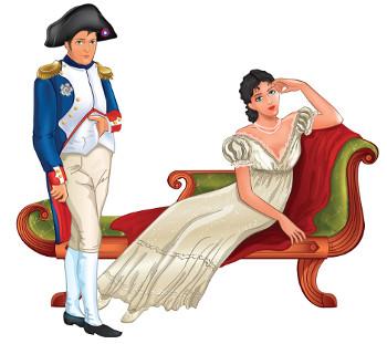 Em 1807, Napoleão Bonaparte e sua esposa usaram trajes brancos na cerimônia de coroação.