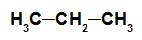 Fórmula estrutural de um alcano