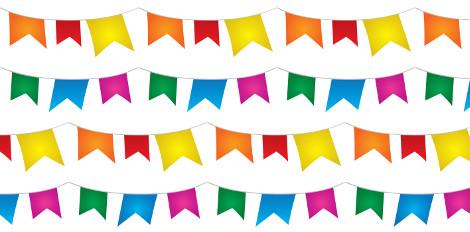 As bandeirolas são uma homenagem aos padroeiros da Festa Junina