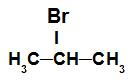 Fórmula estrutural de um haleto orgânico