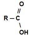 Fórmula estrutural de um ácido carboxílico