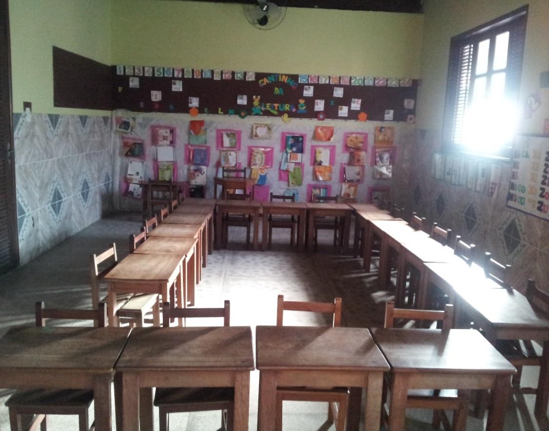 """Imagem 2: Sala de aula """"Bloco de Alfabetização"""" Fonte: Acervo da  #7D5C4E 1126 885"""