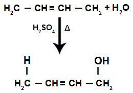 Hidratação parcial no alcadieno alternado