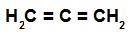 Fórmula estrutural de um alcadieno acumulado