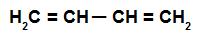 Fórmula estrutural de um alcadieno alternado