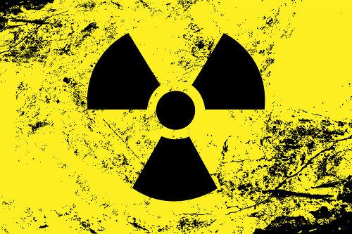 Símbolo utilizado para indicar presença de material radioativo