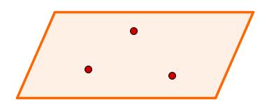 Plano determinado por três pontos distintos não colineares