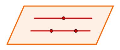 Plano determinado por duas retas paralelas não coincidentes