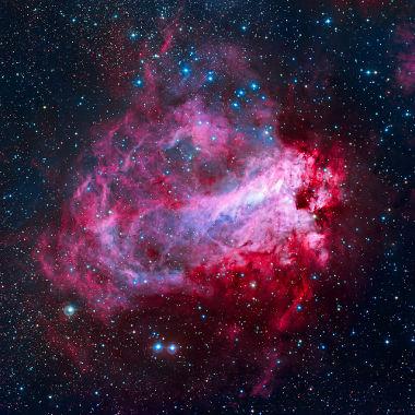 Nebulosa de ômega – 5.000 anos-luz