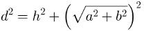 Cálculo da diagonal do bloco retangular