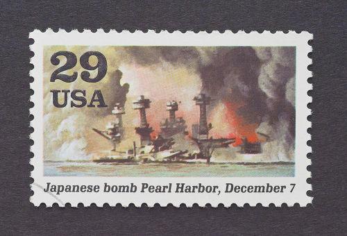 Selo americano relembra o ataque à base naval de Pearl Harbor