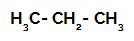 Fórmula estrutural do propano