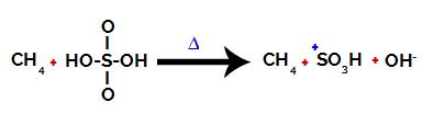 Rompimento da ligação entre o enxofre e a hidroxila