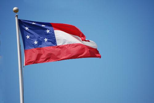 Primeira bandeira confederada, utilizada pelos separatistas de março a maio de 1861