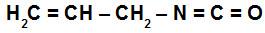 Fórmula estrutural do isocianato de alila