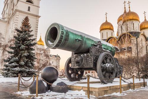 O Canhão do Tsar tem mais de 400 anos e pesa mais de 40 toneladas