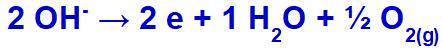 Equação de formação do gás oxigênio
