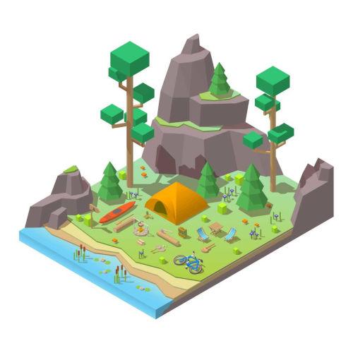 Veja um exemplo de maquete sobre tipos de relevo
