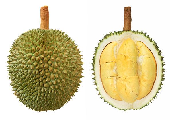 Durian é uma fruta da Ásia conhecida por seu poder afrodisíaco.