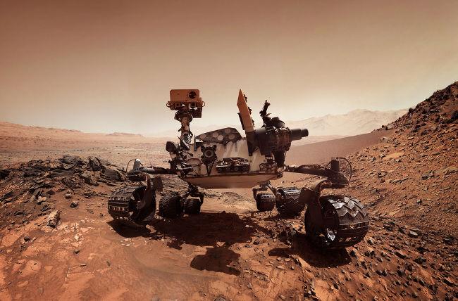 O estudo da Física levou à criação da sonda Mars Rover, usada na exploração de Marte.