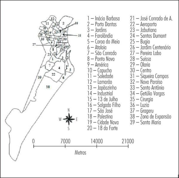 Mapa de Aracaju