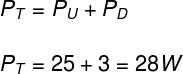 Cálculo da potência total – exercício 3