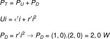 Cálculo da potência dissipada – exercício 1