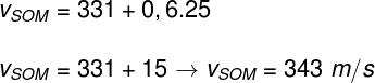 Cálculo da velocidade do som – exercício 2