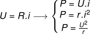 Fórmulas de potência elétrica