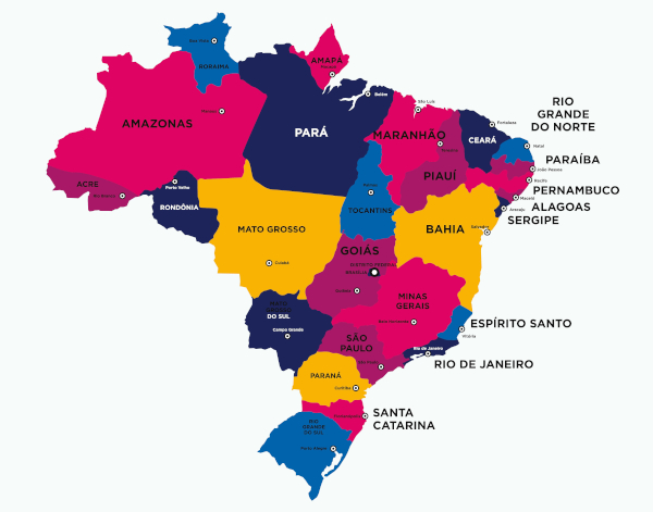 Mapa Do Brasil Estados Capitais E Regioes Brasil Escola