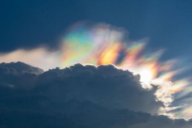 Nuvens iridescentes
