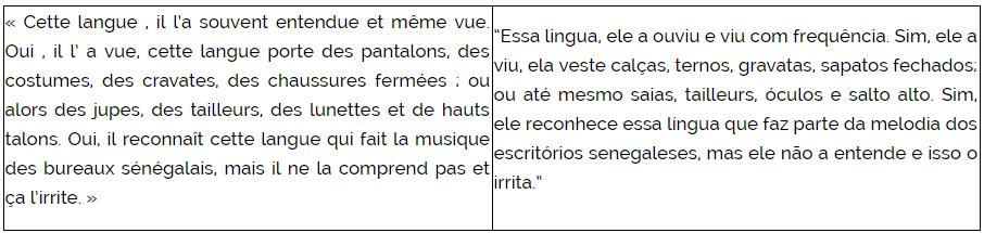 Trecho do livro de Fatou Diome