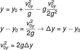 Fórmula para o cálculo da altura
