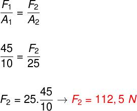 Cálculo da força – exercício