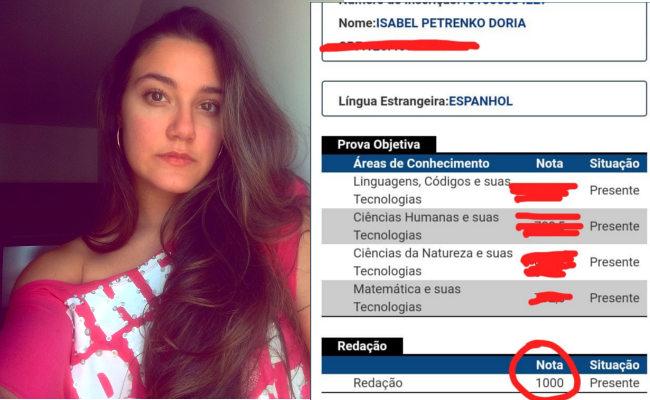 Isabel Dória quer passar para Odontologia ou Publicidade no SiSU