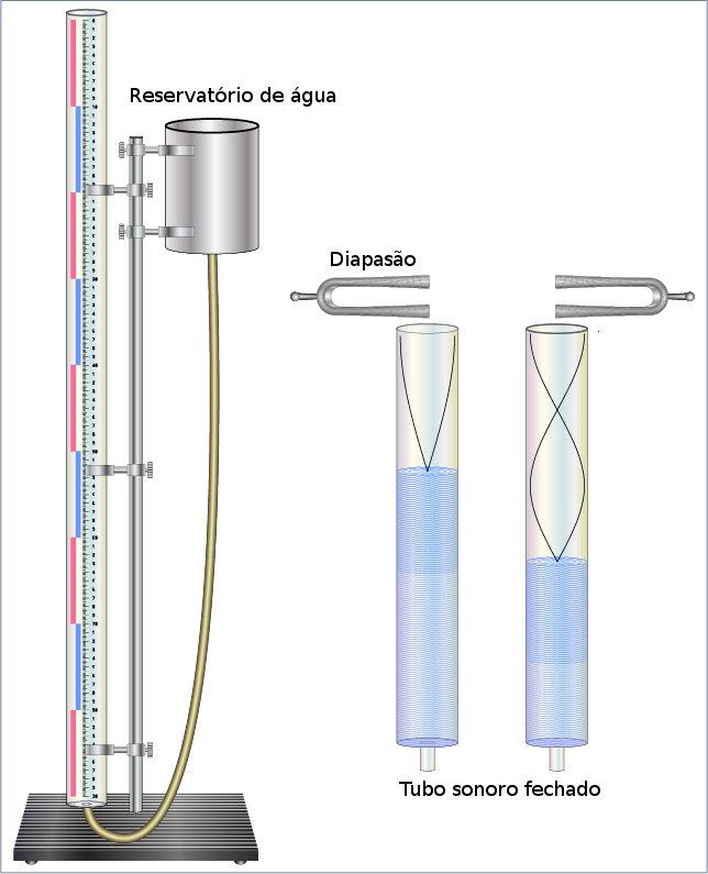 Experimento do tubo sonoro fechado