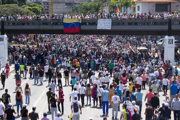 Protesto contra Maduro
