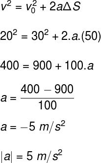 Cálculo da aceleração – exercício 2