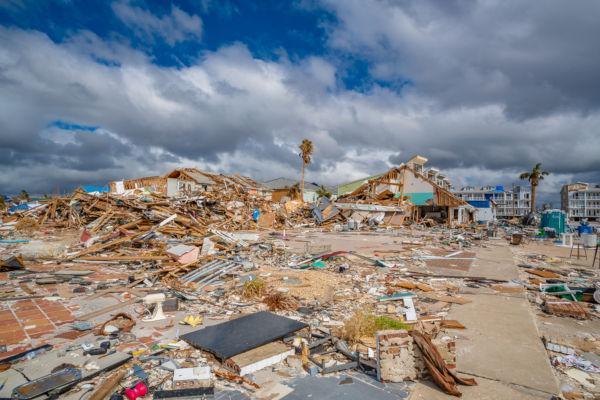 Furacão Michael atingiu a Flórida, nos Estados Unidos, em 2018, causando diversos estragos.*