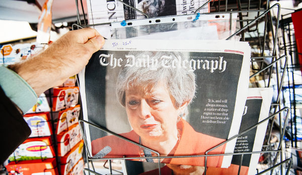Theresa May capa do The Daily Telegraph