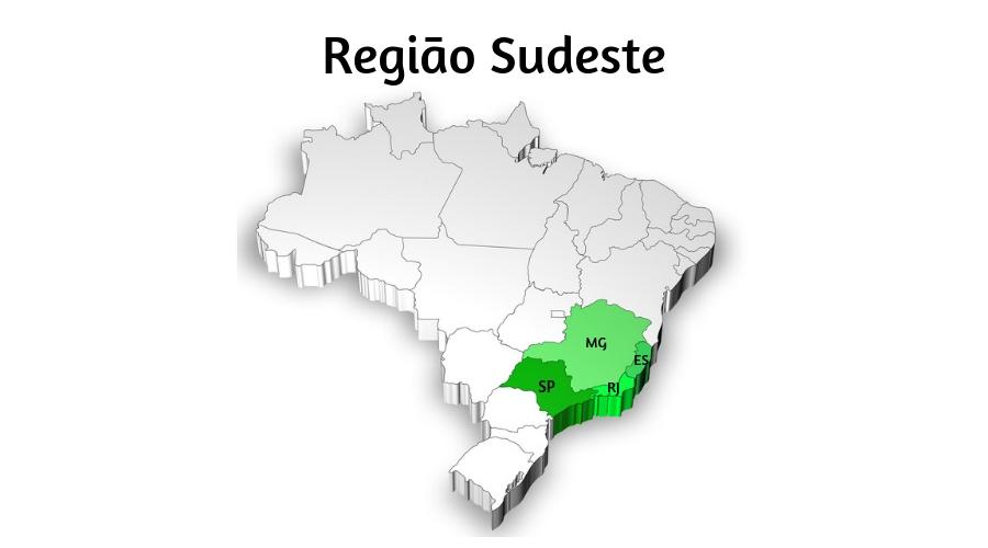 A Região Sudeste é a região brasileira mais desenvolvida.