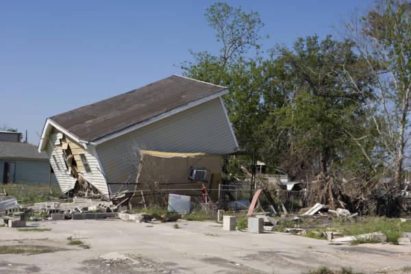 O furacão Katrina devastou a região de Nova Orleans nos Estados Unidos.