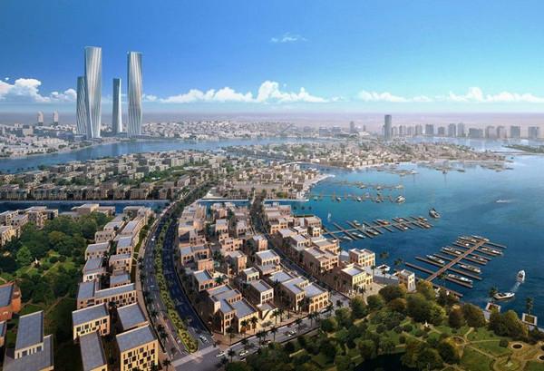 Projeto da cidade de Lusail, em construção no Catar. (Crédito: Lusail.com)