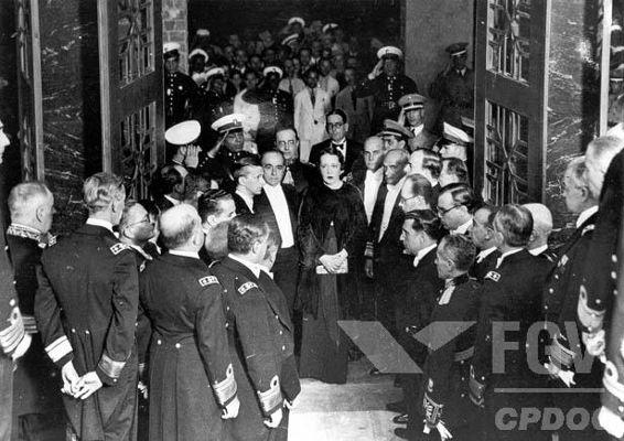 Getúlio Vargas e Darci, sua esposa, durante um evento no Rio de Janeiro, em 1935.[1]