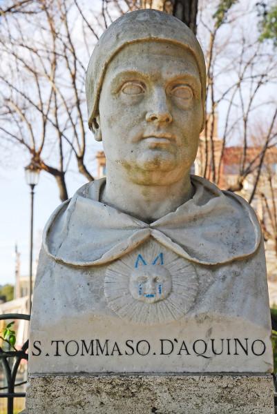 Tomás de Aquino foi um dos principais expoentes do pensamento escolástico.